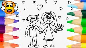 coloring pages for kids bride groom wedding coloring for kids