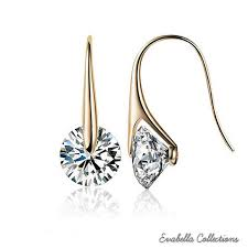 drop earrings buy swarovski drop earrings in sterling silver by vista