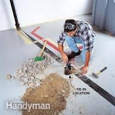Installing Basement Shower Drain by How To Plumb A Basement Bathroom Family Handyman