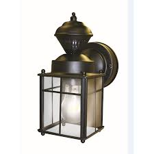 Outdoor Home Lighting Shop Secure Home 9 52 In H Matte Black Motion Activated Outdoor