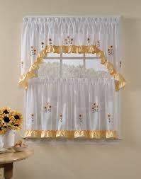 kitchen window curtain ideas beige striped fabric windows blinds