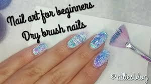 nail art for beginners how to dry brush normal vs fan brush