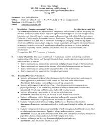 lab syllabus cedar crest college