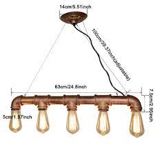 Lampe F Esszimmer Retro Wasserleitung Steampunk Vintage Pendelleuchte Lampen Für