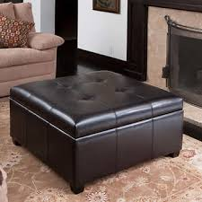 Ottoman Leather Storage Canyons Bonded Leather Storage Ottoman