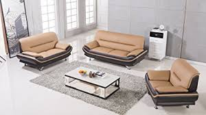 Faux Leather Living Room Set American Eagle Furniture 3 Base Supported