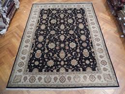 perfect black hand woven 9x12 vegetable dyed chobi rug dining room