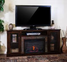 tv stand fireplace tv console fireplace rustic console fireplace