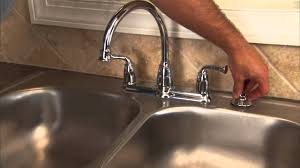 install kitchen faucet with sprayer how to install a two handle kitchen faucet step 13 install