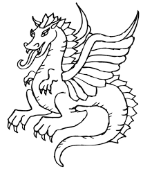 dragon pictures print color kids coloring