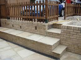 sanstone patio garden wall u0026 steps in alresford road winchester