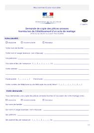 demande de copie des pieces annexes fournies lors de l - Acte De Mariage En Ligne Gratuit