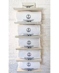 get the deal nautical towel rack coastal storage beach decor