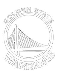 Golden State Warriors Coloring Pages golden state warriors logo coloring page free printable coloring pages