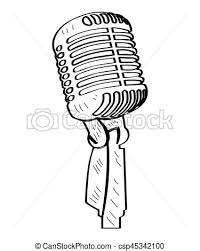 vector clipart of isolated microphone outline isolated outline