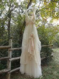 rustic vintage wedding dresses champagne color wedding