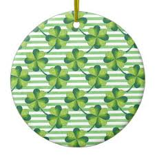 customize four leaves clover st s day pattern ceramic