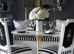 Black And White Striped Dining Chair Black And White Striped Dining Room Chairs 1161 Attractive In 15