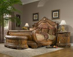 Bedroom Ideas With A Sleigh Bed Michael Amini Cortina Sleigh Bed U0026 Reviews Wayfair