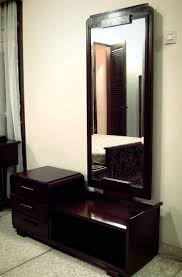 Glass Vanity Table With Mirror Furniture Modern Dressing Table Designs With Length Mirror