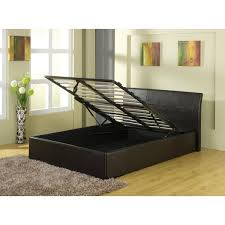 Black Leather Sleigh Bed Gfw Georgia Black Faux Leather Sleigh Bed Frame Cheap Beds Leeds