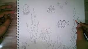 how to draw an underwater scene for kids youtube