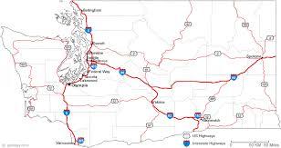 map of washington map of washington