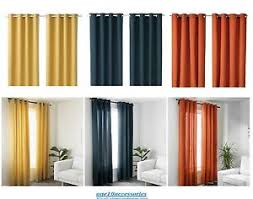 Blue And Orange Curtains Ikea Mariam Eyelet Curtains Pair 100 Cotton Available In Blue