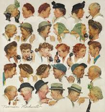 rockwell norman the gossips figures sotheby s
