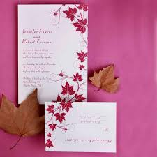 free wedding invitation sles modern maple leaves discount wedding invitation sets ewi057 as