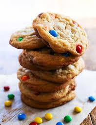 chocolate chip cookies with m u0026m u0027s u2014 pip and ebby