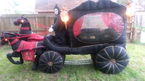 Airblown Halloween Inflatables by Gemmy Carriage Hearse With Reaper Inflatable Youtube