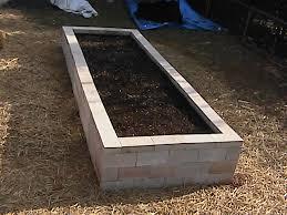raised bed garden using cinder blocks and hoop house vegetable