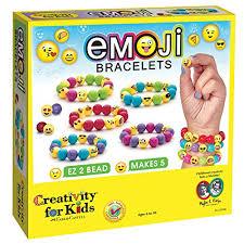 bead bracelet kit images Creativity for kids emoji bead bracelet craft kit makes 5 emoji jpg