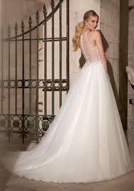 Princess Style Wedding Dresses Crystal Beaded Embroidery On Tulle Morilee Bridal Wedding Dress