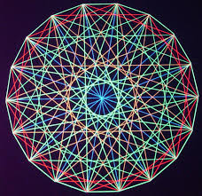 string art spectrum circle design string and nail are