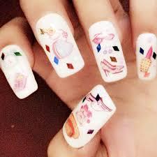 aliexpress com buy 1pc cute 3d nail sticker cat flower glass