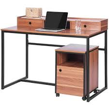 Computer Storage Cabinet Merax Wood Writing Desk With Cabinet Contemporary Computer Desk
