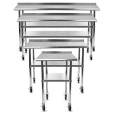 gridmann nsf stainless steel commercial kitchen prep u0026 work table