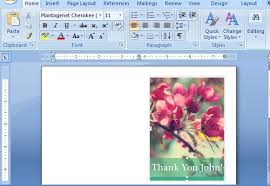 How To Create Business Cards In Word Thank You Card Templates For Word
