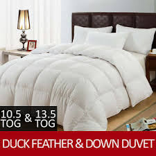 10 Tog King Size Duvet New Luxury Duck Feather U0026 Down Duvet Quilt All Sizes 10 5 Tog