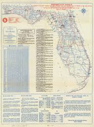 Map Of Florida by Florida Memory Official Road Map Of Florida 1946