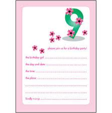 9 years old birthday invitations wording eysachsephoto com