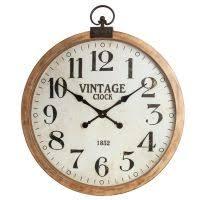 Grande Horloge Murale Carrée En Bois Vintage Achat ᐅ Achetez Horloge Murale Décoration Murale Déco Fr