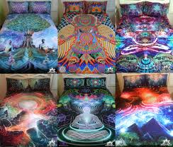 home decor bed sheets freelance lady visionary art psychedelic bedding sets and home