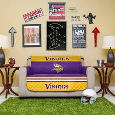 minnesota vikings home decor vikings quilted loveseat cover