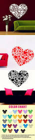 creative heart shaped wall stickers different shapes and creative heart shaped wall stickers different shapes and sizes warm home decoration