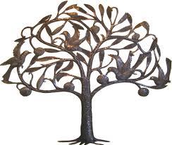 metal tree of wall haitian steel drum wall decor