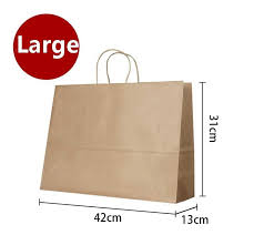 clear gift wrap wholesale large kraft gift paper bag with handle horizontal