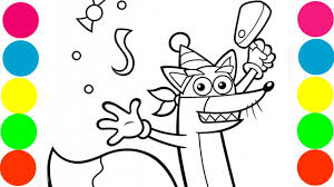 dora the explorer swiper the fox coloring pages for kids art